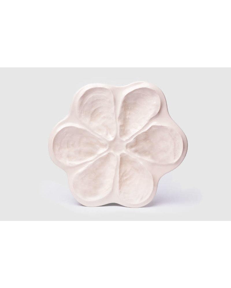 Traditional Oyster Platter for 6: Porcelain White