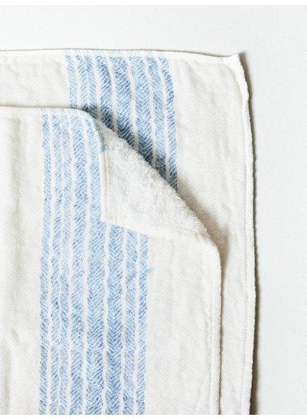 Blue & Ivory Hand Towel- Flax
