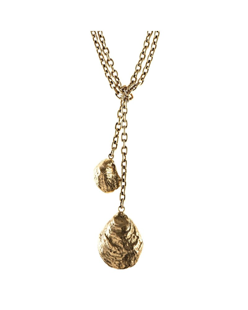 Oyster Crossover Necklace