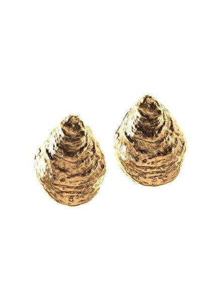 Oyster Shell Clip Earrings