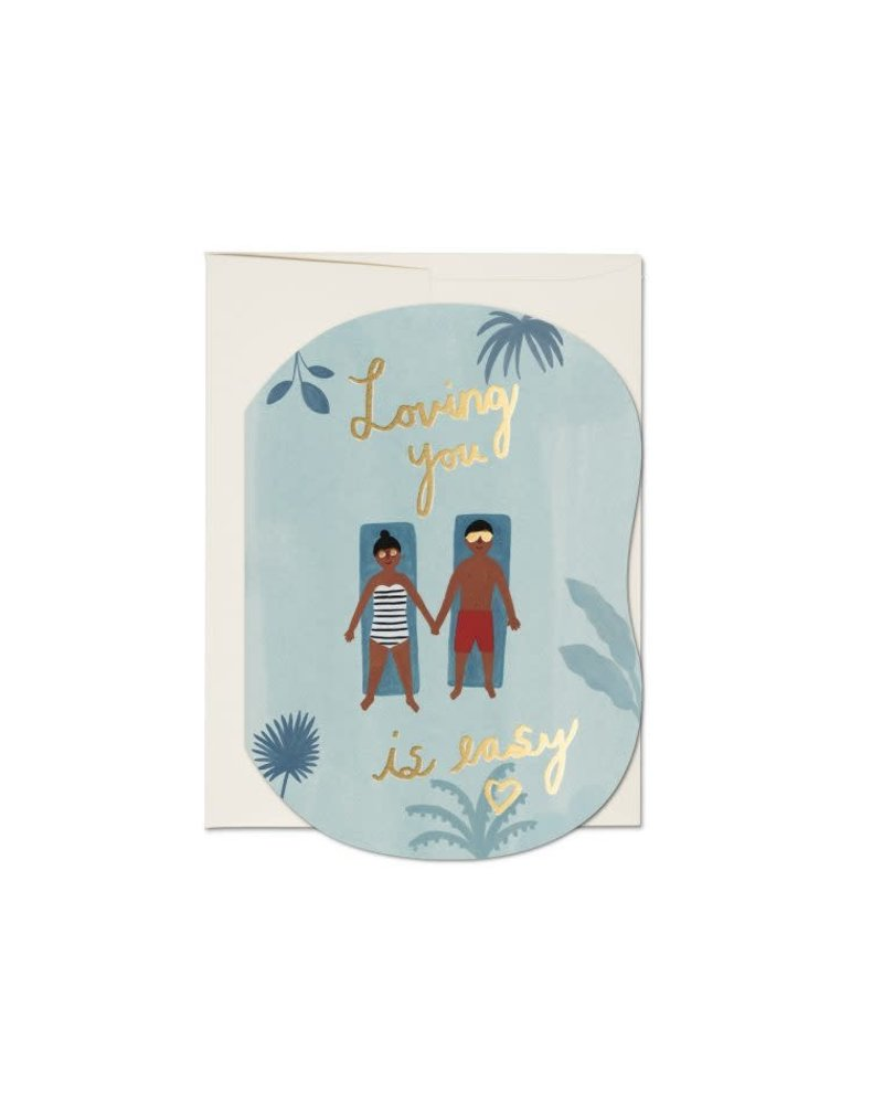 Pool, Loving You is Easy Greeting Card