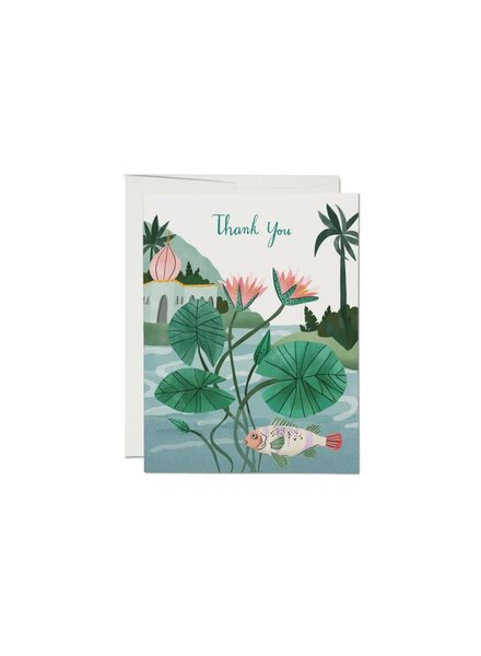 Water Lily, Thank You Greeting Card