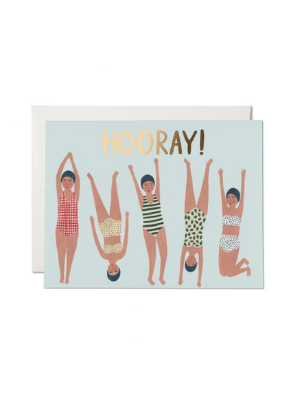 Swimmers, HOORAY Greeting Card