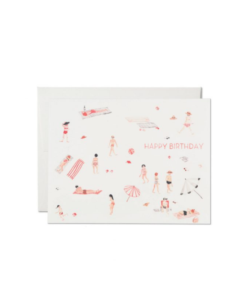Beach Bums Birthday Greeting Card