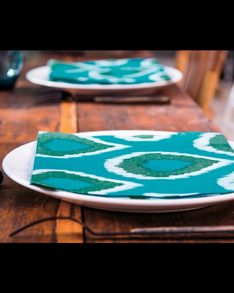 Ikat, Vert Napkin, 40 cm Dinner