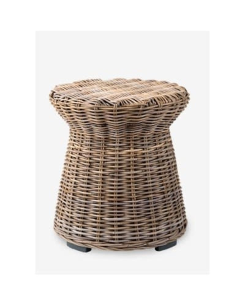 Seascape Rattan Side Table, Driftwood