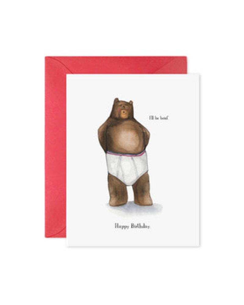 I'll Be Brief, Greeting Card