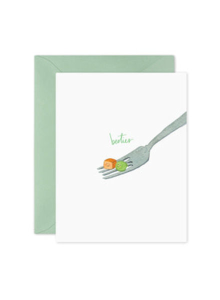 Besties Peas + Carrot, Greeting Card