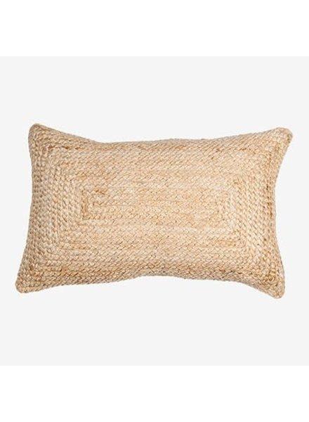 """Braided Natural Lumbar Pillow 21"""" x 13"""""""