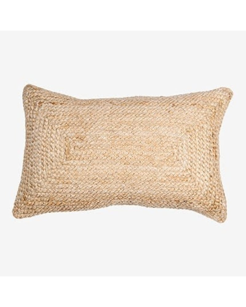 "Braided Natural Lumbar Pillow 21"" x 13"""