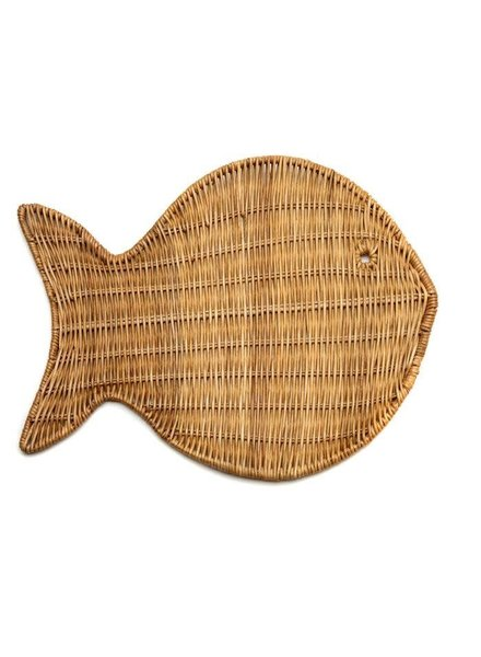 Wicker Fish Placemat- Natural