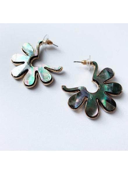 Shell Blossom Earrings- Abalone