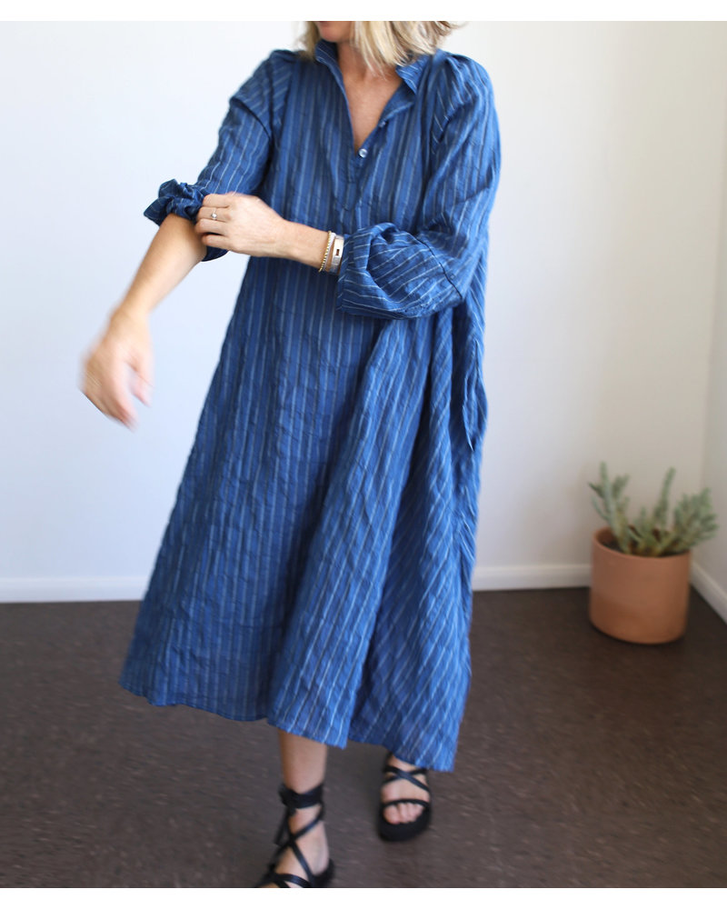 Atlin Dress (Indigo Multi)