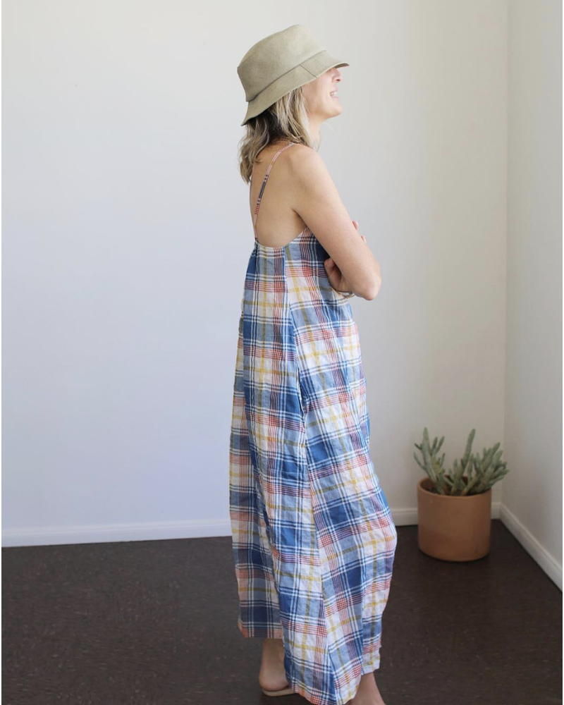 Antibes Dress (French Blue Madras)