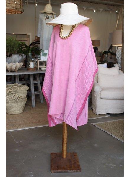 Ibiza V Neck Tunic, Long- Pink