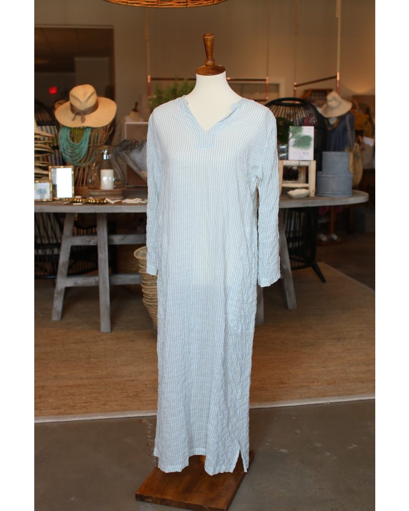 Essaouira Dress (Cream/Blue Voile)
