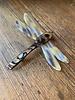 Yellow Sky & Onyx Dragonfly Barrette