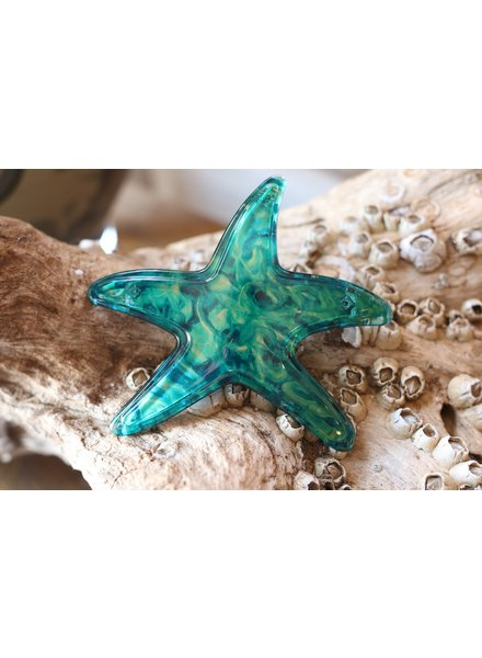 Starfish Barrette- Turquoise
