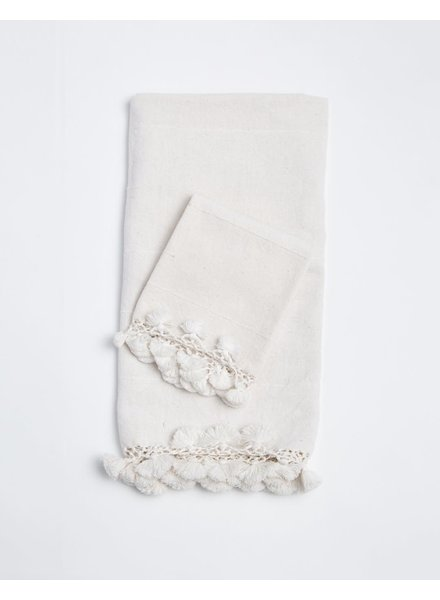 Haveli Bath Towel with Tassels