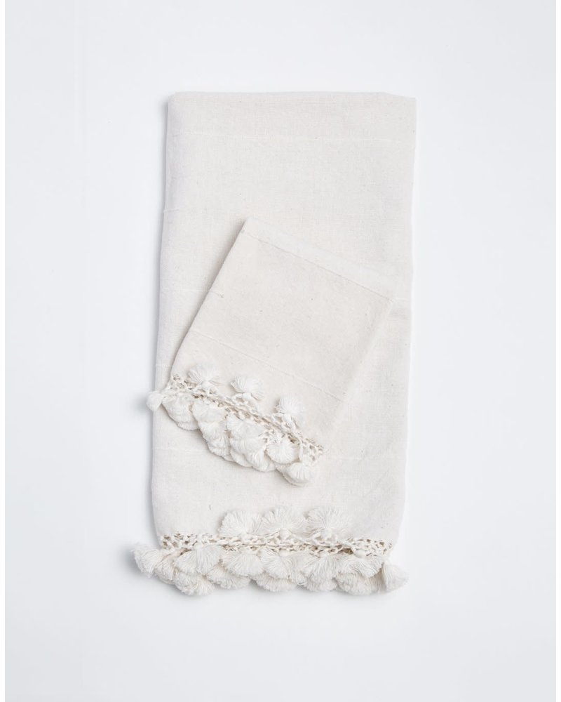 Haveli Hand Towel with Tassels