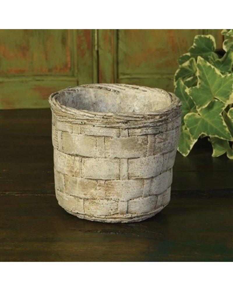 Cement Basket- Plaited Weave