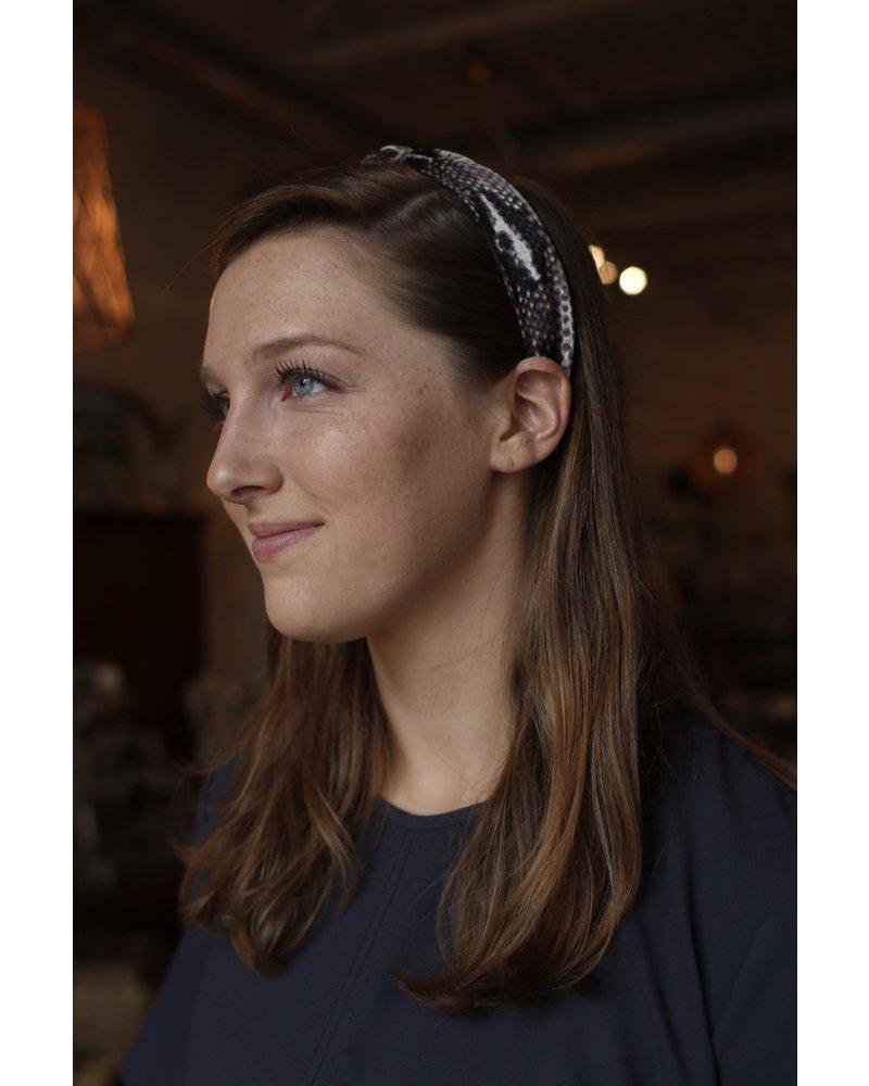 Snake Print Headband- Gray