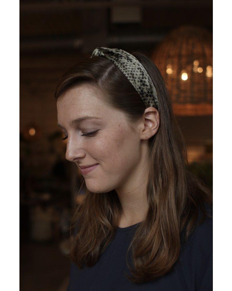 Snake Print Headband- Green