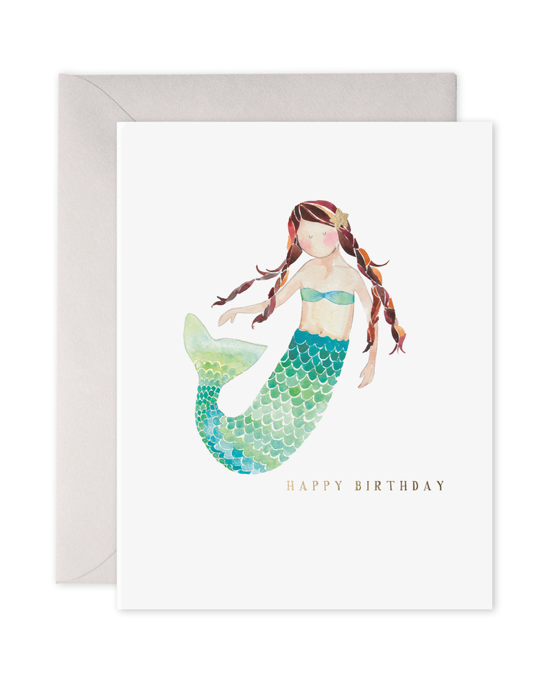 Happy Birthday Mermaid Card