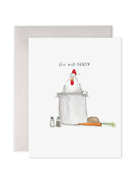 Chicken Noodle Soup Get Well Card