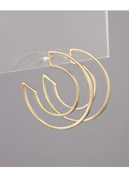 Trace Worn Gold Hoops