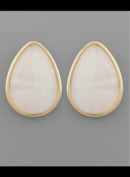 Lana Tear Drop Shell Earrings