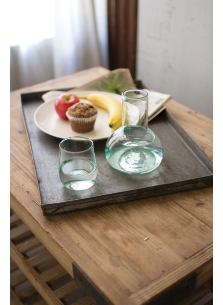 Recycled Glass Carafe + Glass