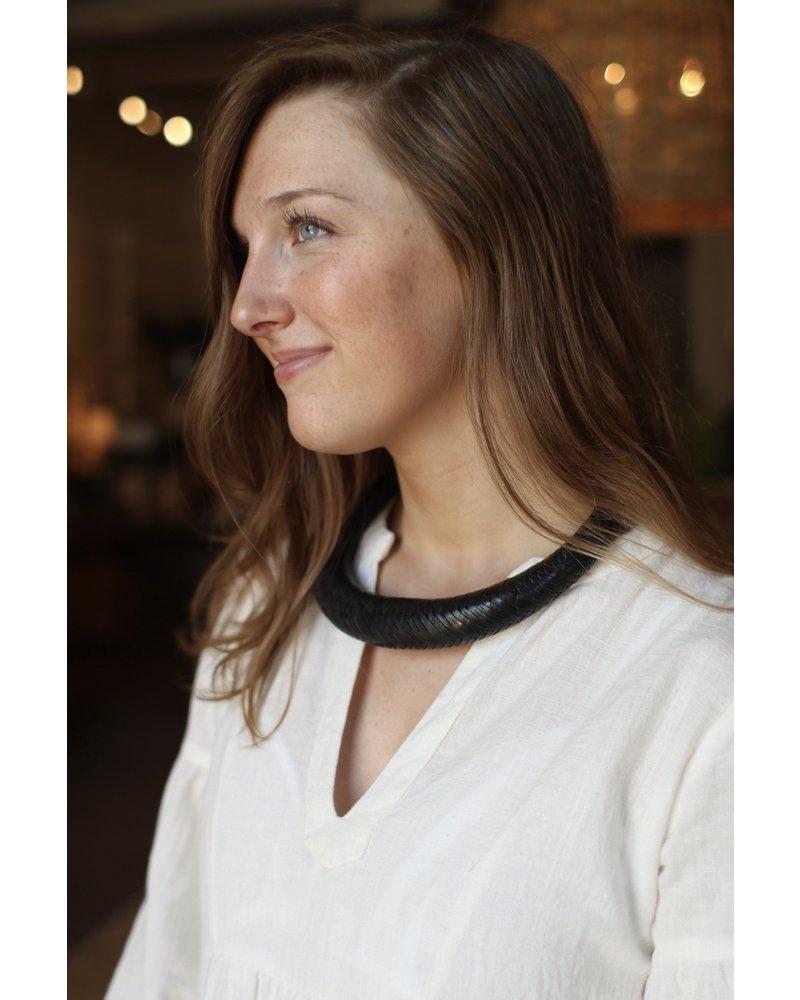 Navy Braided Collar