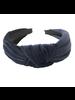 Navy Velvet Headband