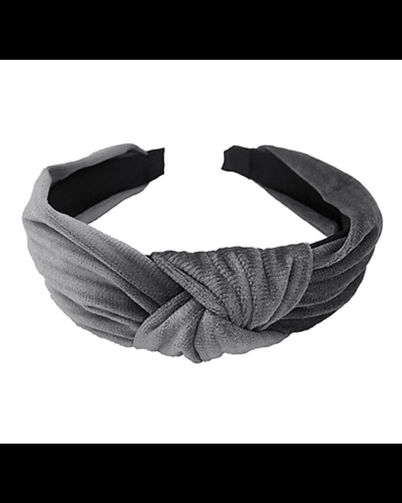 Gray Velvet Headband