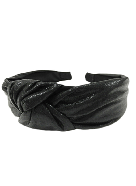 Black Metallic Headband