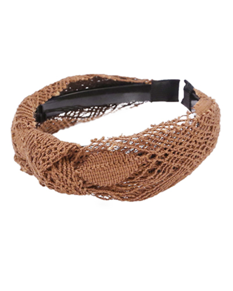 Brown Crochet Headband
