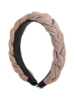 Braided Glittery Headband- Blush