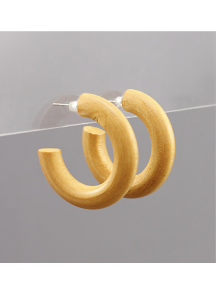 Mini Wooden Hoops- Tan