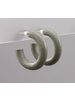 Mini Wood Hoops- Gray