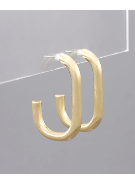 Matte Gold Tube Hoops