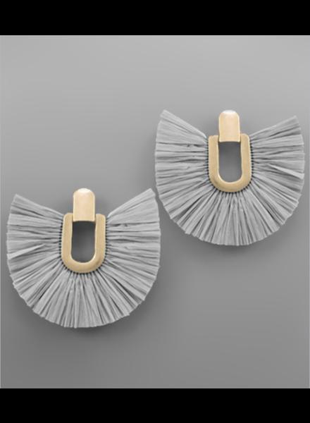 Kerri Door Knocker Earrings- Gray