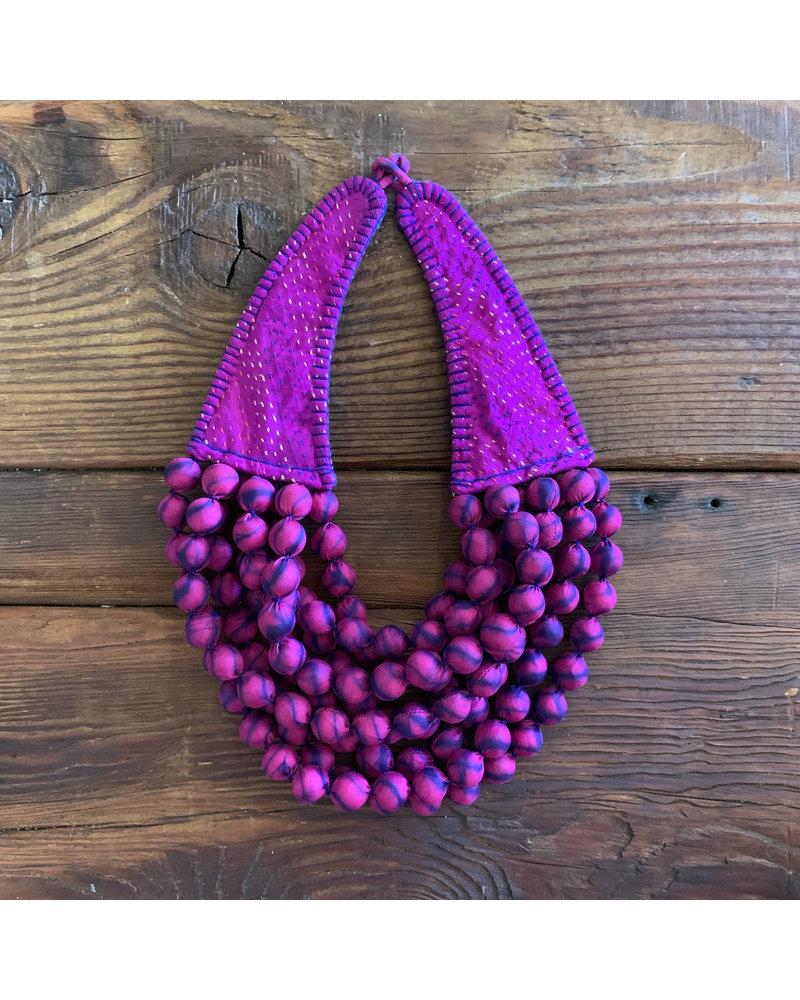Kantha Beads- Fuchsia