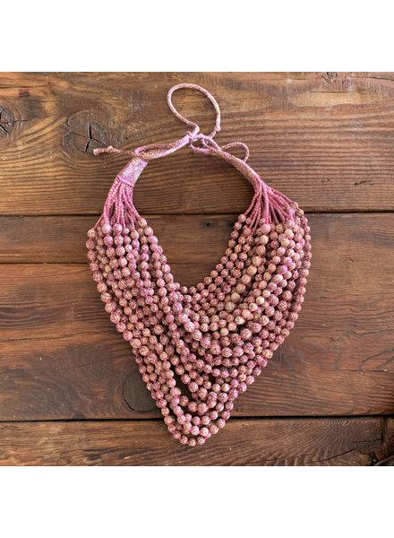 22 Strands Silk Beads- Blush