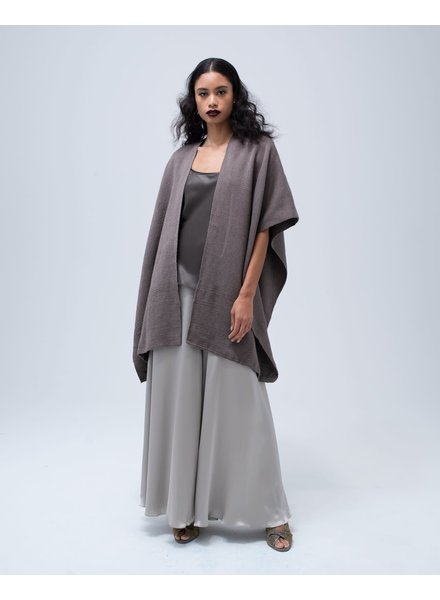Hand-Loomed Cotton Short Duster- Truffle