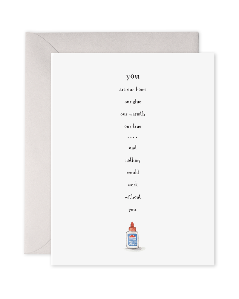 Glue Greeting Card