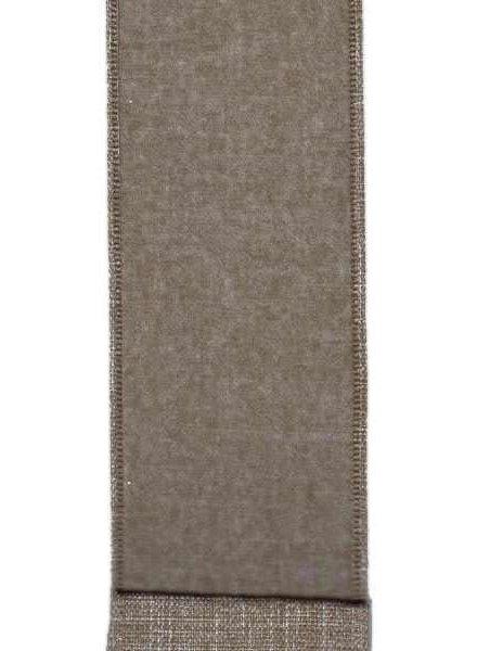 "Linen Flannel, Nickel 2.5"" x 10 Yards"