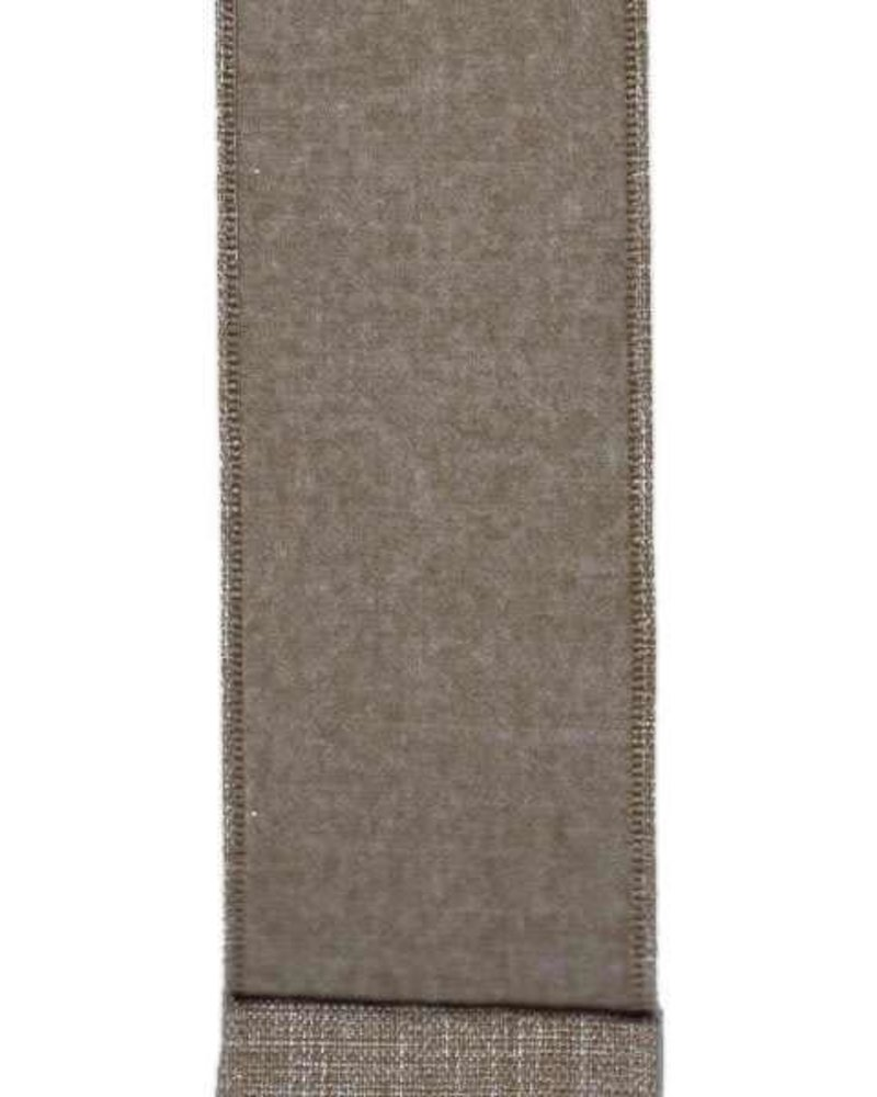 "Linen Flannel, Nickel 2.5"" x 10 Yards"