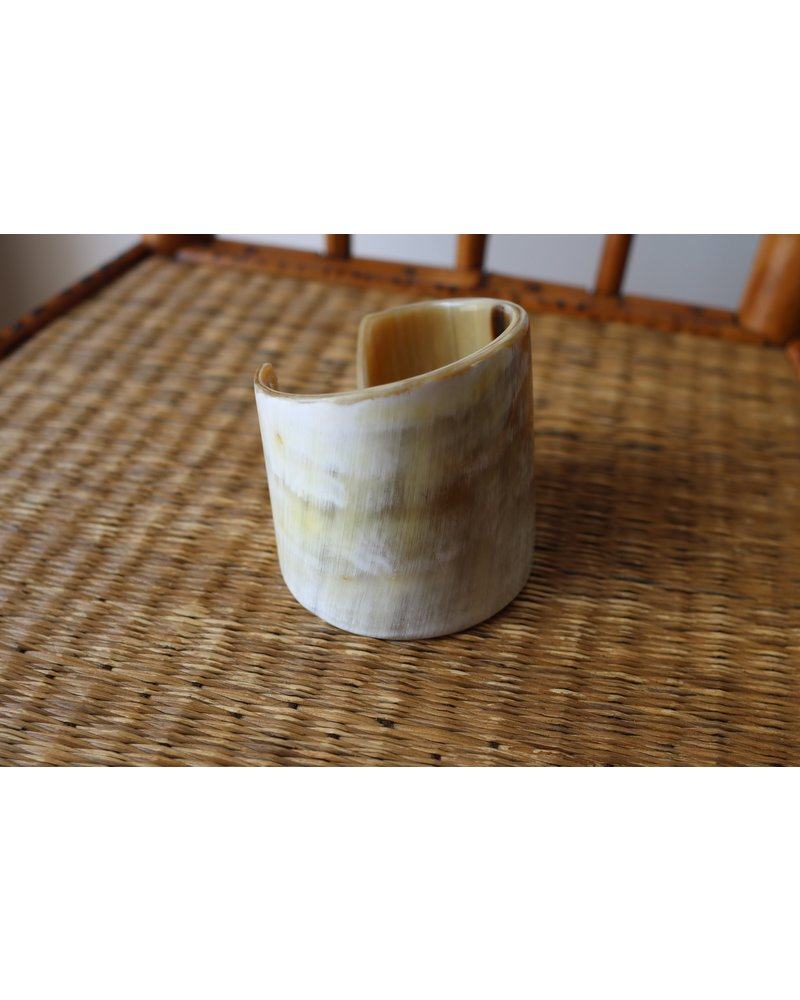 Cream Horn Tapered Cuff