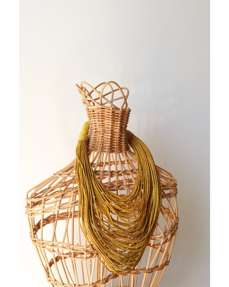 Yellow Strands Necklace